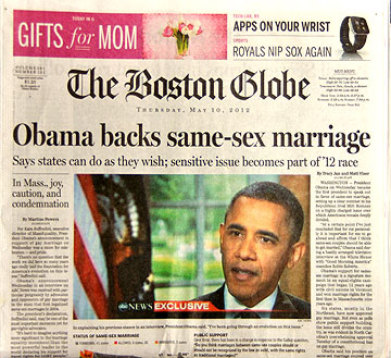 Homosexual marriage news articles