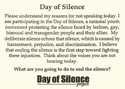 Gay and lesbian day of silence